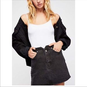 Free People We The Free She's All That Denim Skirt